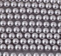 6mm SWAROVSKI® ELEMENTS Light Grey Crystal Pearl Beads - 50 pearls for jewellery making, beadwork and craft